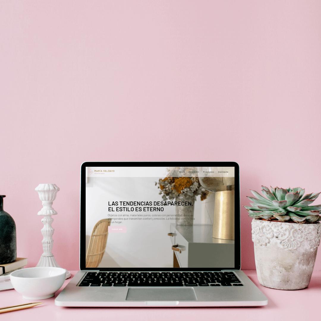Diseño y desarrollo web María Valdayo Interiorismo