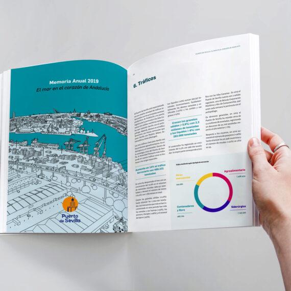 Diseño memoria anual Autoridad Portuaria Sevilla